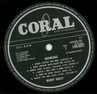BUDDY HOLLY Showcase Vinyl Record LP Coral 1964